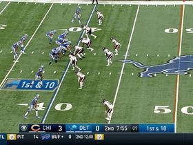 Dwayne Washington rushes for first down; holding penalty on play