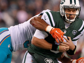 Bryce Petty strip sacked by Cameron Wake, Suh recovers