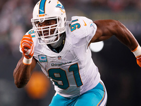 Cameron Wake intercepts Bryce Petty for first of NFL career