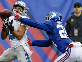 Eli Apple saves TD with spectacular pass break up