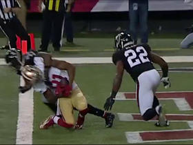 Colin Kaepernick throws a rocket to wide receiver Rod Streater for a 5-yard TD