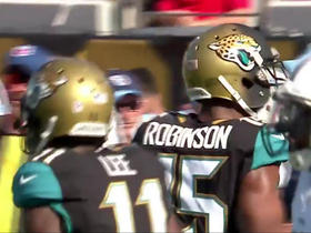 Blake Bortles throws a strike to Allen Robinson for 18 yards