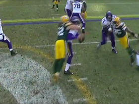 Clay Matthews demolishes Sam Bradford on strip sack turnover