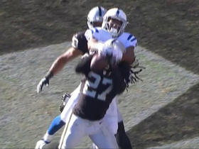 Andrew Luck picked off in end zone by Reggie Nelson
