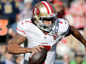 Colin Kaepernick runs in for 13-yard TD, cuts 49ers' deficit to one