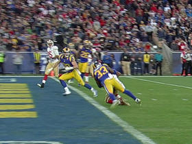 Colin Kaepernick finds Rod Streater for TD to set up game-winning play