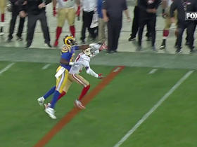 Watch: Jared Goff throws game-ending interception