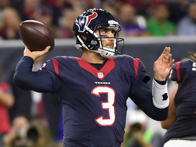 Tom Savage lobs a pass to Akeem Hunt for 24 yards