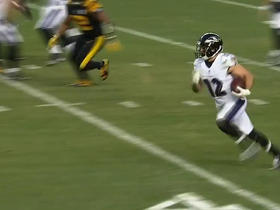 Michael Campanaro speeds around the end for 23 yard reverse
