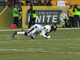 Watch: Zachary Orr makes diving interception of Big Ben