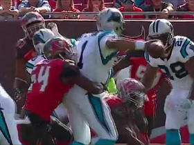 Lavonte David sacks Cam Newton for a 12-yard loss