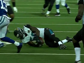 Andrew Luck intercepted by Telvin Smith