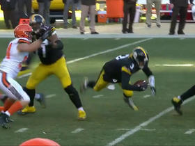 Landry Jones trips over his own lineman on sack