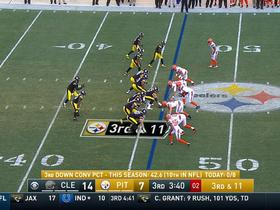 Briean Boddy-Calhoun intercepts Landry Jones, fumbles return into end zone