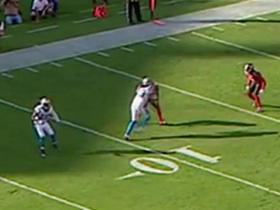 Cam Newton hits Philly Brown for 17 yards