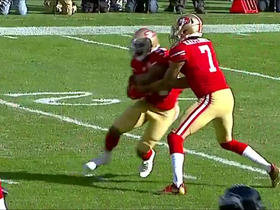 Bobby Wagner recovers fumble by Colin Kaepernick