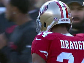 Colin Kaepernick connects with Shaun Draughn for 27 yards