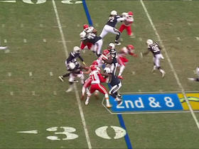 Ronnie Hillman spins past defenders for a 10-yard gain