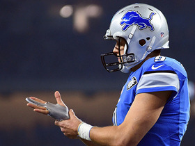 How has Matthew Stafford's injured finger impacted his play?
