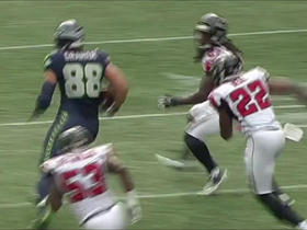 Russell Wilson finds Jimmy Graham for 25-yard gain