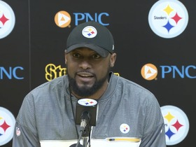 Watch: Tomlin: 'It was foolish, selfish and inconsiderate' of Brown to stream locker room speech