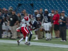 Watch: Wes Lunt hits Karel Hamilton down the sideline for big gain