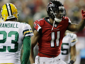 Watch: Aaron Rodgers INT leads to Julio Jones incredible toe-tap TD!