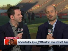 Watch: Browns finalize 4-year contract extension with Jamie Collins