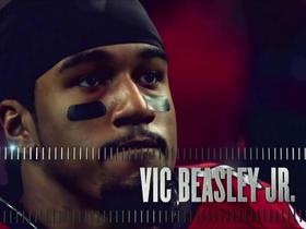 Vic Beasley wins the Deacon Jones award