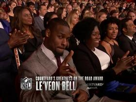 Le'Veon Bell wins the Greatness on the Road award