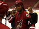 Watch: Larry Fitzgerald Takes To The Ice