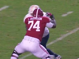 Watch: Alabama OT Cam Robinson Highlights