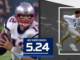 Watch: Combine vs. Reality: Tom Brady