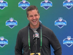 Watch: John Harbaugh on brother Jim: 'He's just being himself...he's really fun to play for'