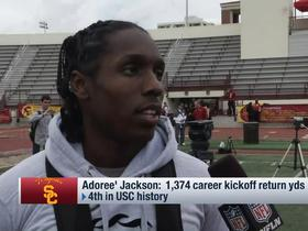 Watch: Adoree' Jackson on honing DB skills: 'Sky's the limit'