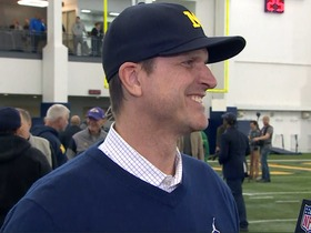 Watch: Harbaugh: Peppers can play LB or S, has 4.3-4.4 game speed