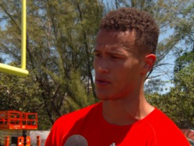 Watch: Brad Kaaya: It would be a treat to learn under a veteran QB