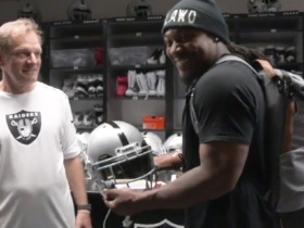 Watch: Lynch's first moments as a Raider are priceless