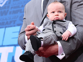 Watch: Garrett Bolles shows off his baby boy on the NFL Draft Red Carpet