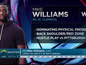 Watch: Mayock: Mike Williams separates with length and power