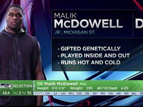 Watch: Mayock: Malik McDowell is gifted genetically but runs hot and cold