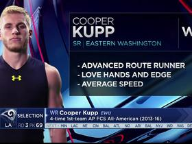 Watch: Mayock: Cooper Kupp has great hands and speed