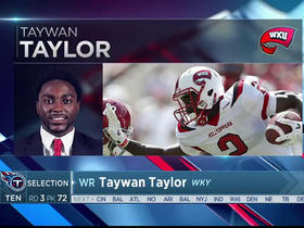 Watch: Jurrell Casey Titans' selection of Taywan Taylor No. 72 in the 2017 NFL Draft