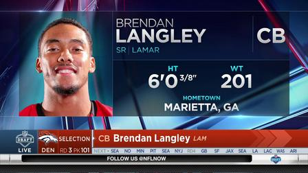 Broncos select Brendan Langley to close Day 2