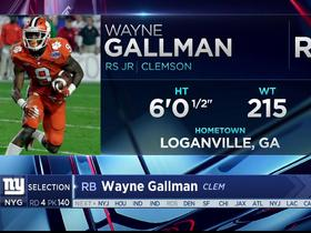 Watch: Giants select Wayne Gallman No. 140 in the 2017 NFL Draft