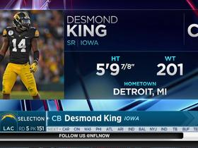Watch: Chargers select Desmond King No. 151 in the 2017 NFL Draft