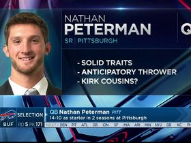 Watch: Mayock: Nathan Peterman compares to Kirk Cousins