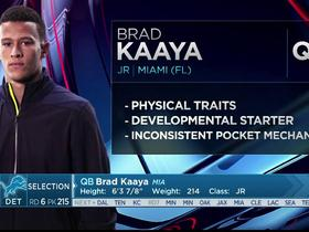 Watch: Mayock: Brad Kaaya to learn from Stafford and compete for No. 2 spot