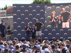 Watch: Chargers fans announce No. 113 pick