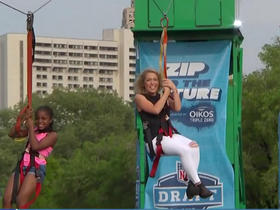 Watch: Colleen ziplines through Philly